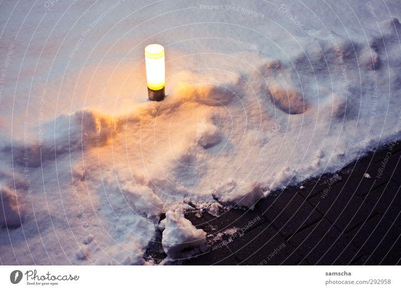 City White Winter House (Residential Structure) Dark Cold Lanes & trails Lighting Garden Lamp Bright Snowfall Illuminate Frozen Seasons