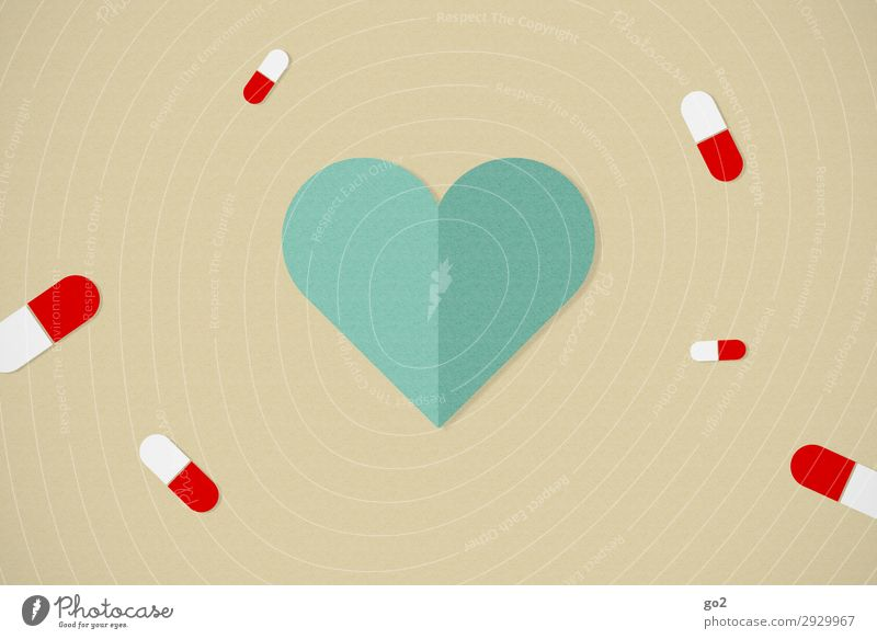 health Healthy Health care Medical treatment Nursing Illness Medication Sign Heart Addiction Illustration Colour photo Studio shot Close-up Deserted