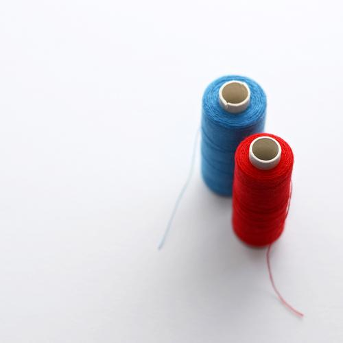 HOT LOVE | blue-red-white Tailor Craft (trade) Sewing thread Blue Red White Uniqueness Competition Leisure and hobbies Fashioned Handcrafts 2 Creativity
