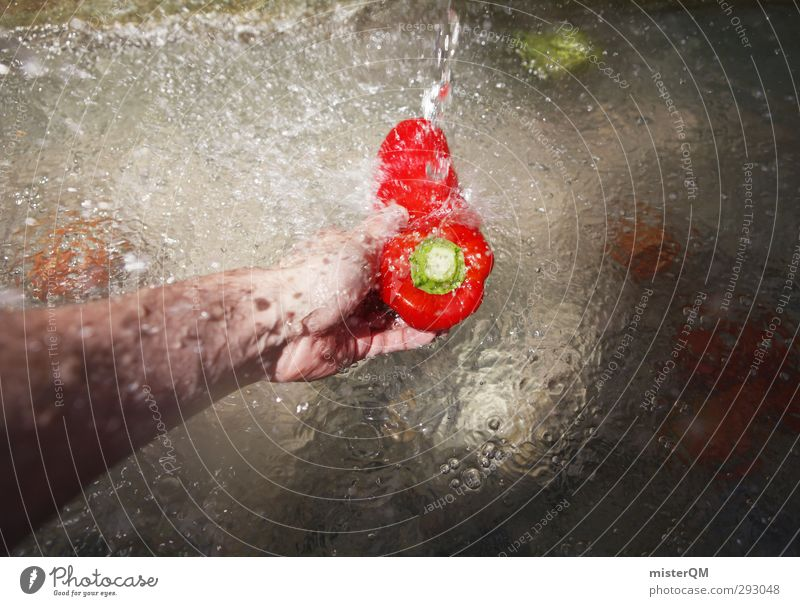 EAT THIS! Art Esthetic Pepper Cleaning Red Vegetable Greengrocer Vegetable market Vegetable dish Healthy Eating Delicious Fresh Colour photo Subdued colour