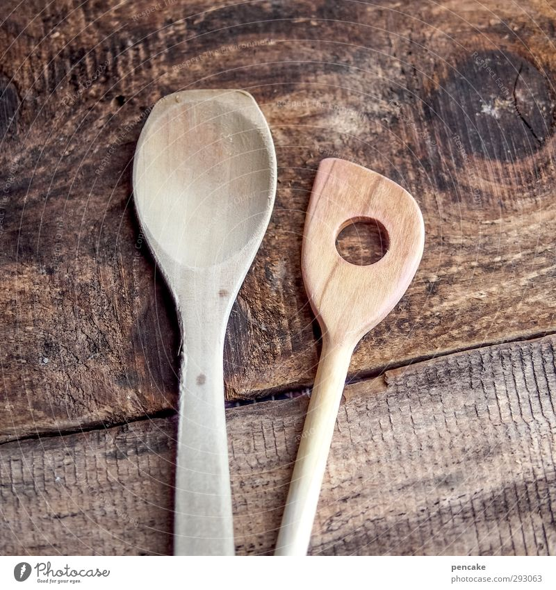 HOT LOVE | matter of taste Spoon Wooden spoon Fluid Delicious Warmth To enjoy Idyll Uniqueness Arrangement Pure Quality Value Attachment Love In pairs Stir