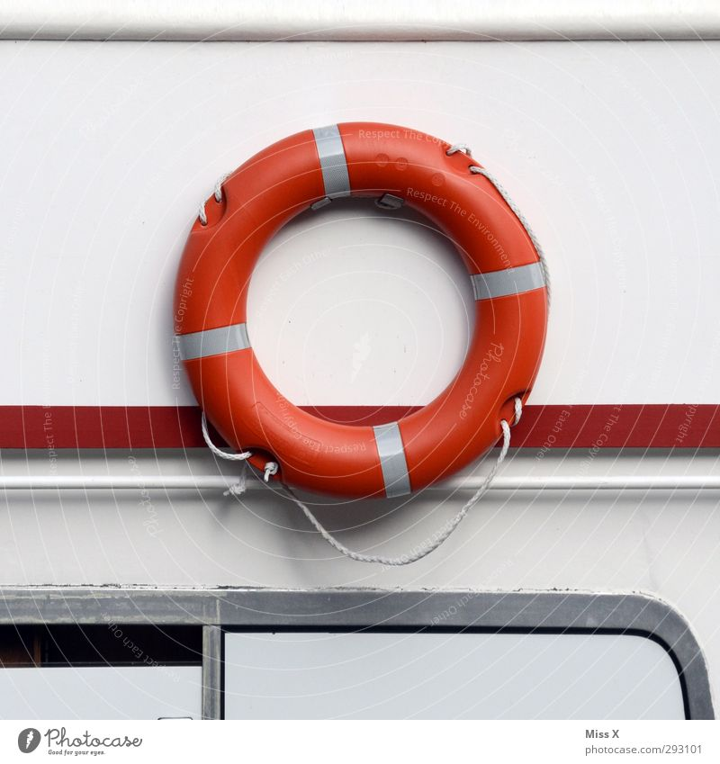 O Characters Round Red Life belt Circle Navigation Rescue Colour photo