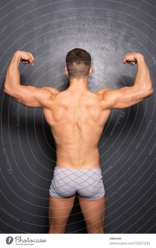 athlete with a wide back and elastic booty Lifestyle Elegant Beautiful Personal hygiene Healthy Harmonious Leisure and hobbies Playing Sports Fitness