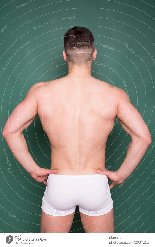 bodybuilder with a wide back and elastic ass Human being Youth (Young adults) Beautiful Young man Eroticism Healthy 18 - 30 years Lifestyle Adults Sports