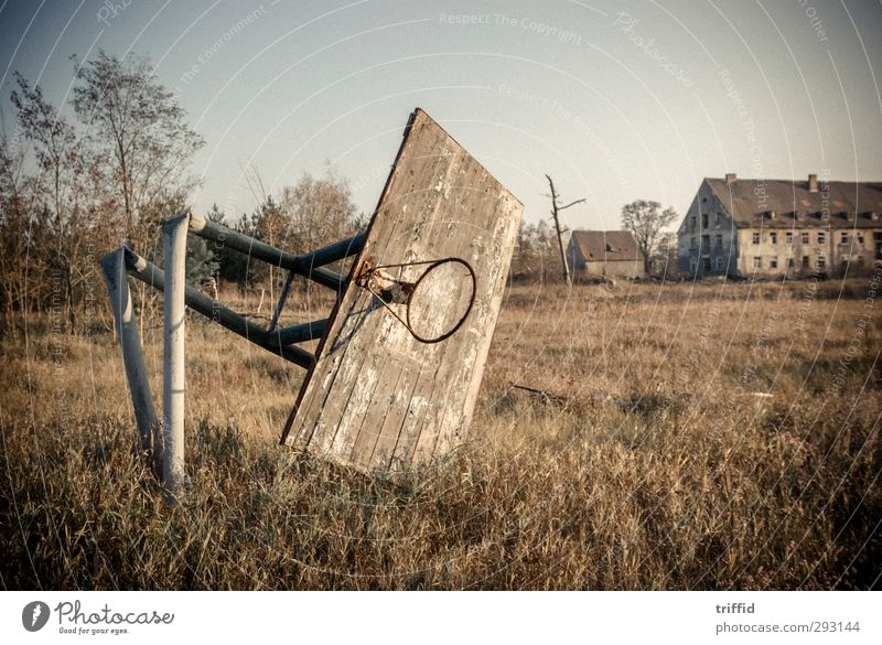 basket Adventure Expedition Ball sports Sporting Complex Village Small Town Deserted House (Residential Structure) Ruin Park Playground Old Exceptional Dark