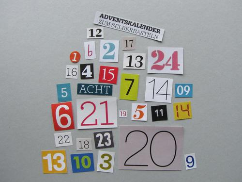 DIY Advent Calendar Characters Digits and numbers Select Communicate Make Uniqueness Funny Multicoloured Gray Emotions Joy Anticipation Idea Infancy Creativity