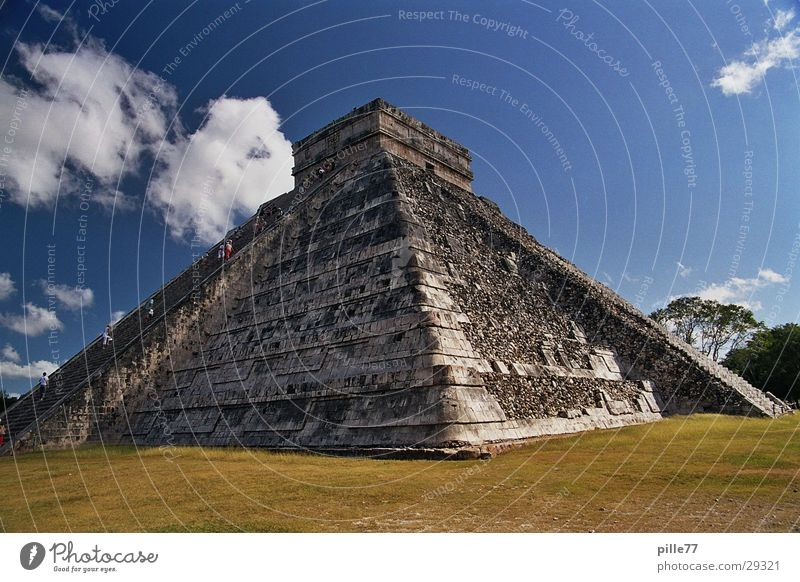 Yucatan Mexico Temple Pyramid Central America Maya Chichen Itza