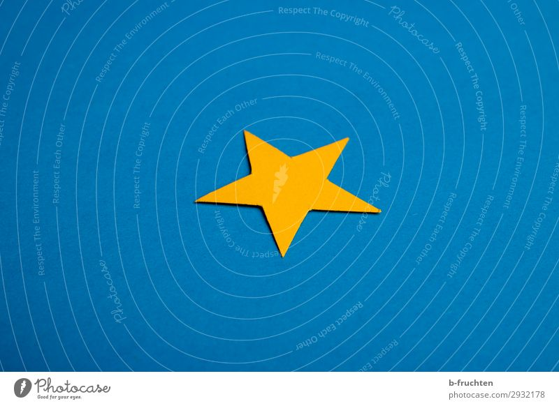 Blue Loneliness Yellow Decoration Individual Star (Symbol) Paper Simple Sign Select Society