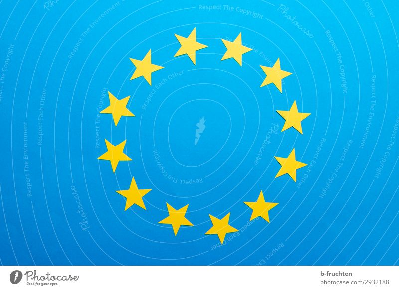 Blue Yellow Work and employment Europe Star (Symbol) Paper Observe Circle Sign Flag Society 12 Alliance European flag