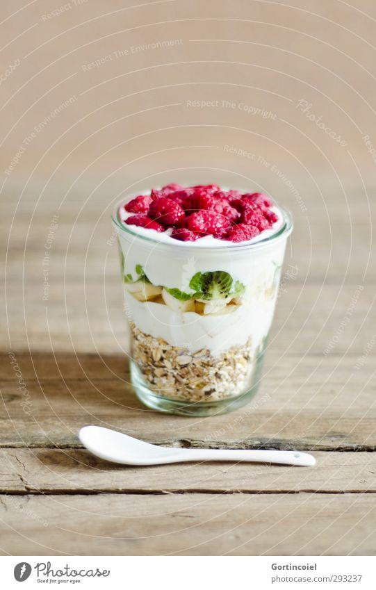 Colourful breakfast Food Yoghurt Fruit Grain Nutrition Breakfast Organic produce Vegetarian diet Diet Slow food Glass Spoon Fresh Healthy Delicious Cereal