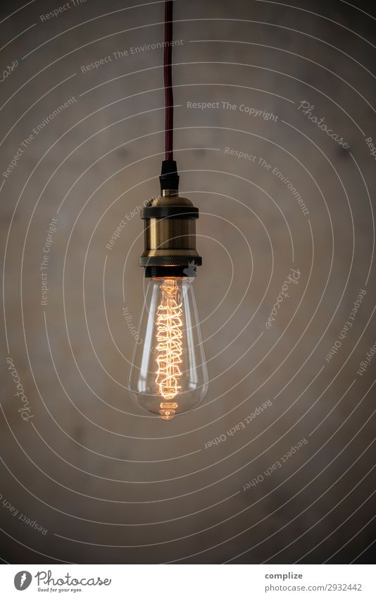 Vintage Edison light bulb in front of patina wall Lifestyle Leisure and hobbies Living or residing Flat (apartment) Moving (to change residence) Arrange