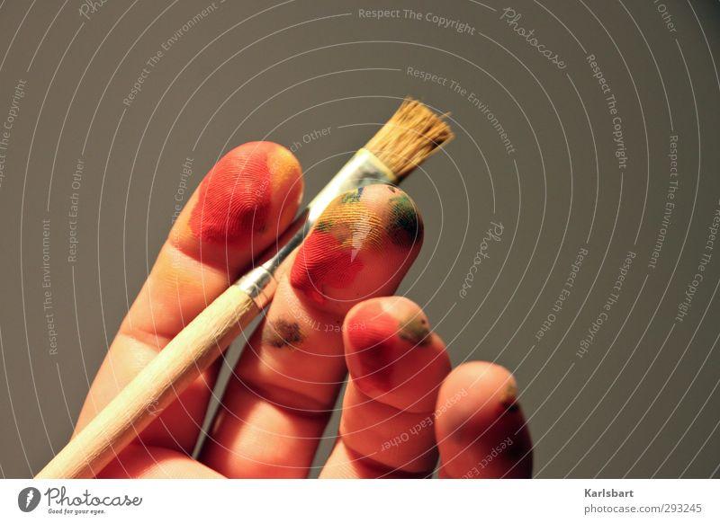 Hand Colour Joy Art Leisure and hobbies Study Uniqueness Creativity Idea Education Draw Kindergarten Make-up Inspiration Artist Paintbrush