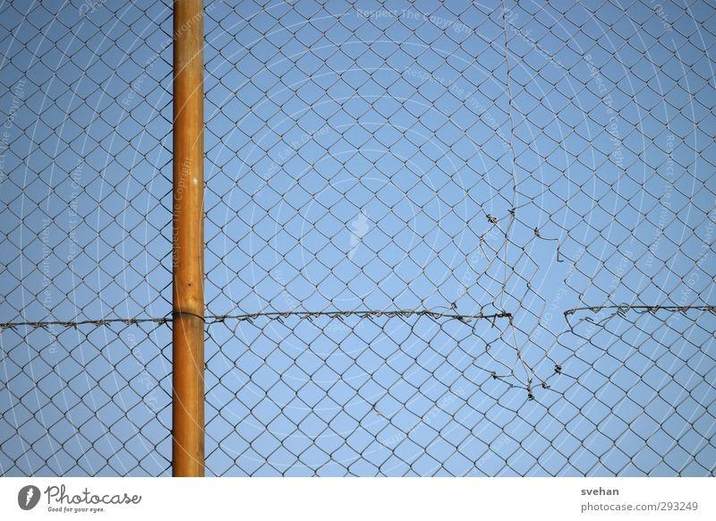 Blue Metal Orange Broken Safety Simple Network Protection Fence Barrier Hollow Destruction Graphic Interlaced Pole