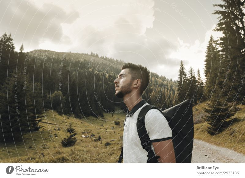 reverence for nature Lifestyle Leisure and hobbies Vacation & Travel Trip Adventure Freedom Hiking Human being Masculine Young man Youth (Young adults) 1