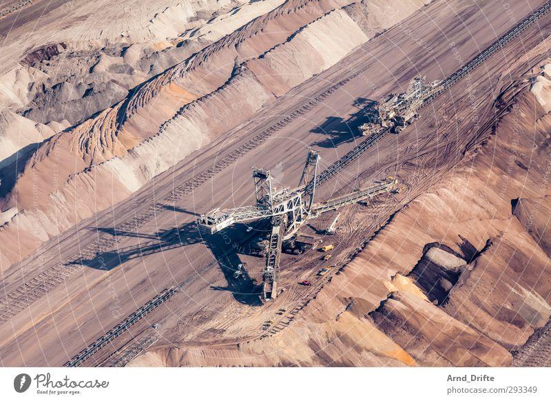 open pit lignite mine Energy industry Environment Destruction Excavator Lignite dig Soft coal mining conveyor bridge Pit Coal Hollow open pit mining