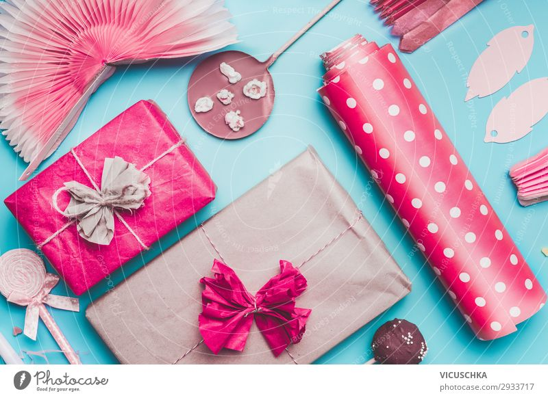 Gift Boxes and Decoration for Birthday Party Candy Chocolate Shopping Design Joy Table Event Feasts & Celebrations Paper Packaging Love Pink Style Lollipop
