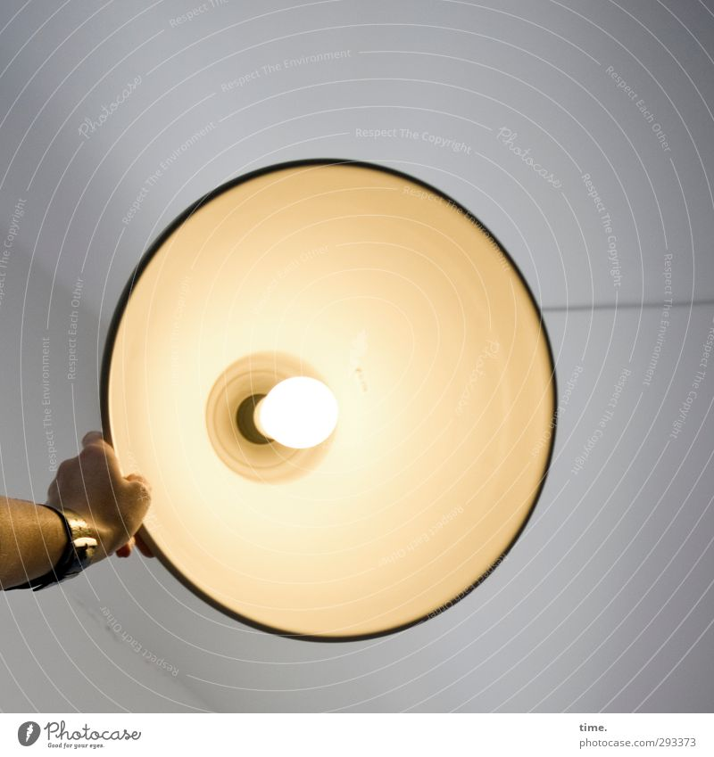 spotlight Lamp Clock Room Ceiling Technology Electricity Lampshade Lamplight Ceiling light Electric bulb Hand Illuminate Hot Bright Round Design Energy Serene