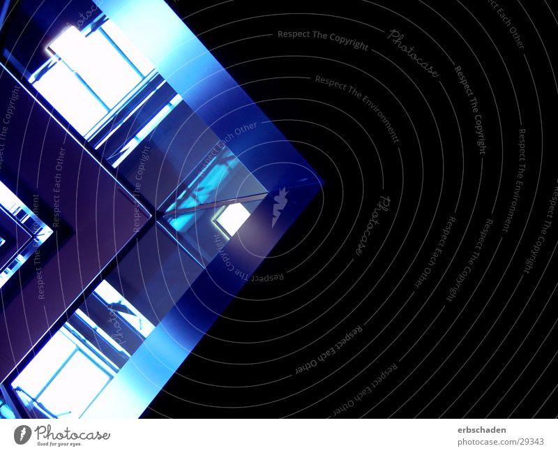 EASTSITE Violet Black Architecture Graffiti vertical shot Corner Handrail Glass Interior shot