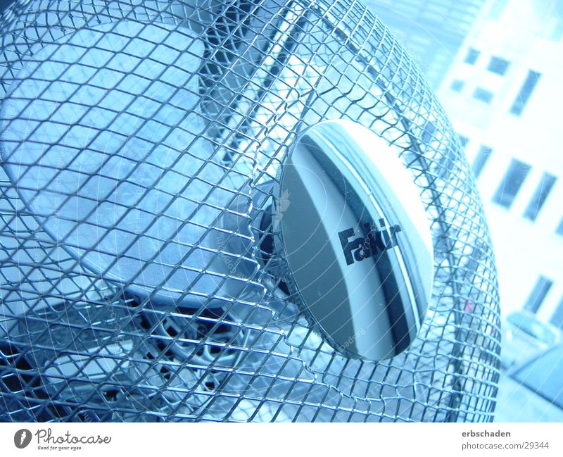 Blue Movement Air Technology Round Grating Rotation Light blue Fan Electrical equipment Mesh grid