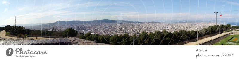 Barcelona Panorama 01 Panorama (View) Town Spain Europe Large