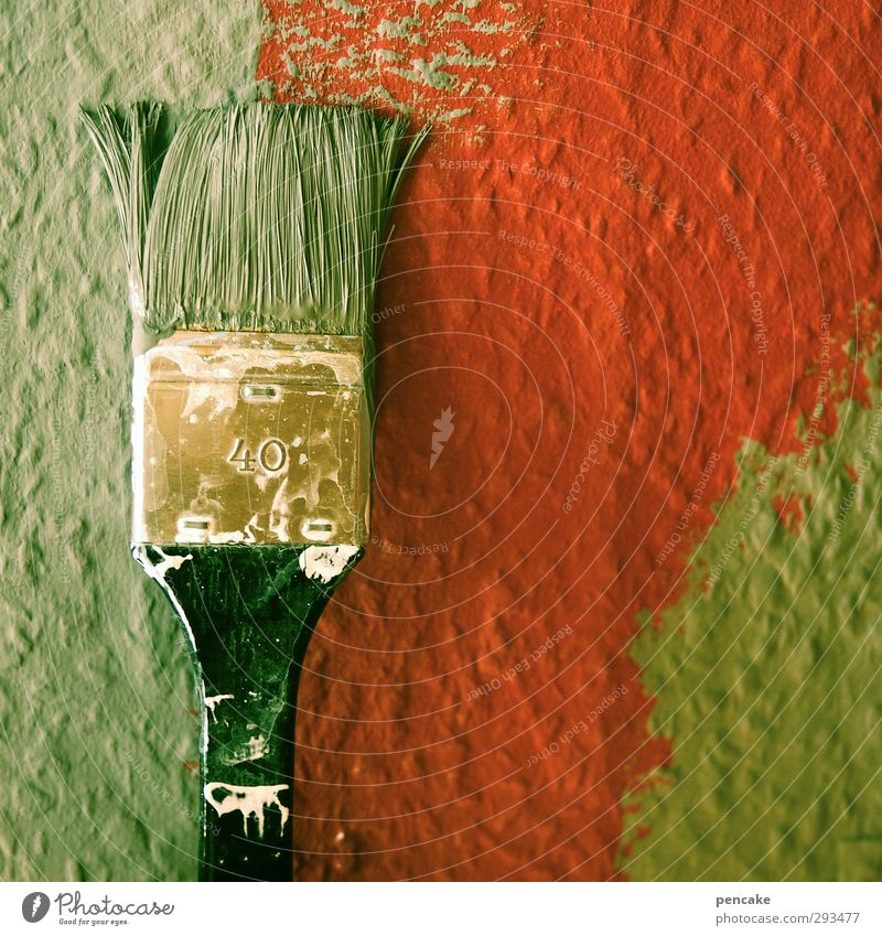 Green Red Dye Business Fresh Wet Change Painting (action, artwork) Construction site New Painting (action, work) Craft (trade) Wallpaper Make Craftsperson