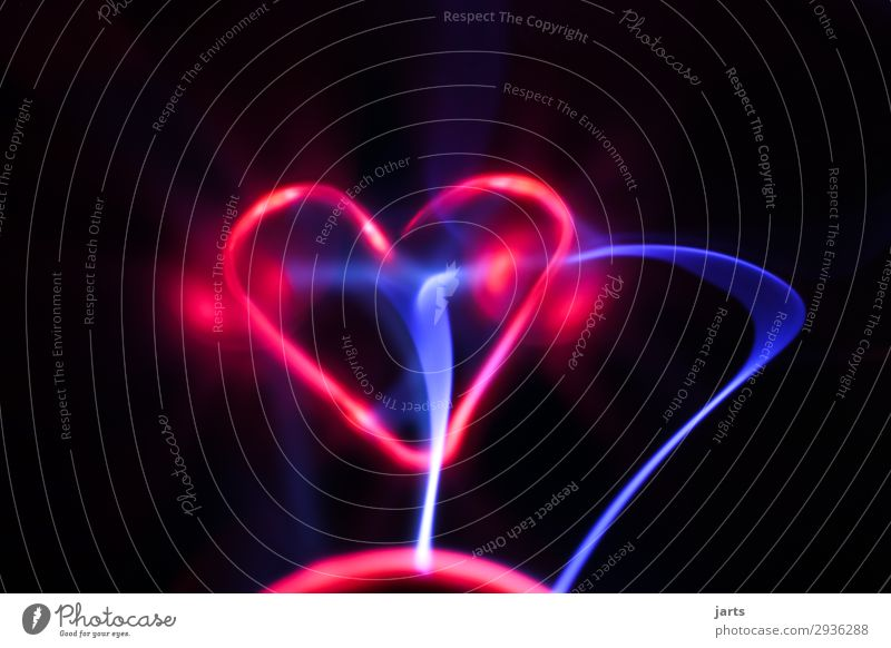 heartbeat II Technology Science & Research High-tech Energy industry Glass Heart Exceptional Hot Bright Power Love Plasma globe Lightning globe Colour photo