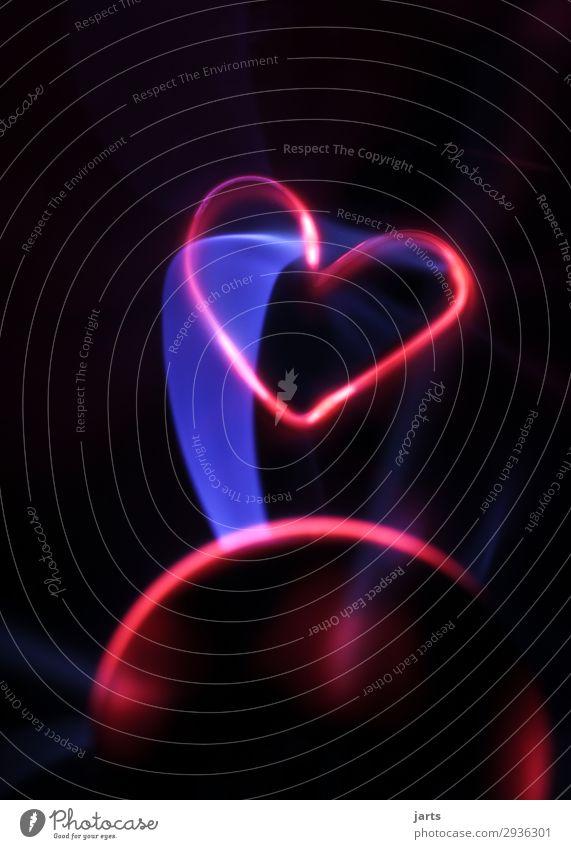 power II Technology Advancement Future High-tech Energy industry Glass Heart Illuminate Love Exceptional Hot Plasma globe Colour photo Studio shot Close-up