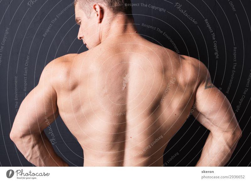 powerful bodybuilder back Lifestyle Beautiful Body Skin Sauna Entertainment Party Sports Fitness Sports Training Sportsperson Success Parenting Education