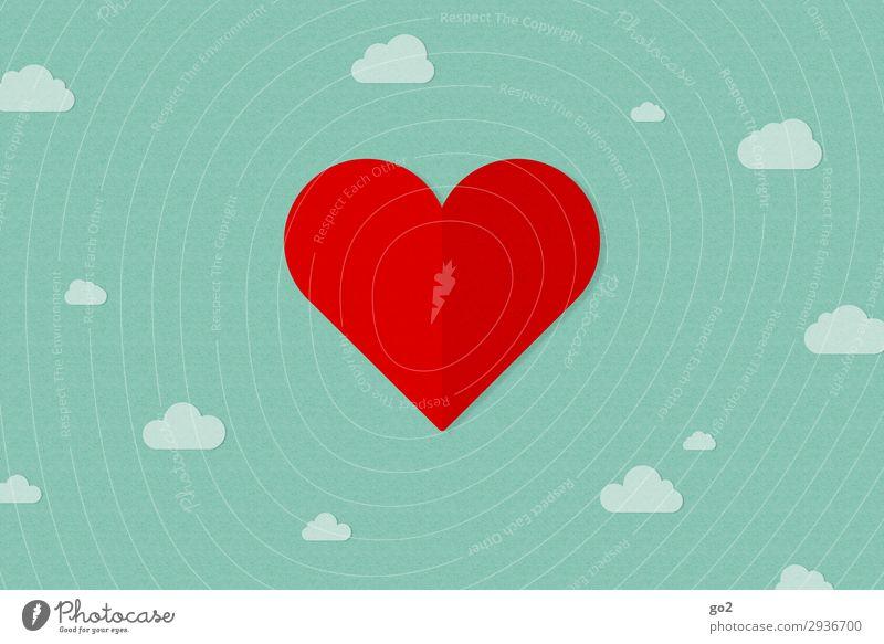 Heaven Green Red Clouds Joy Love Emotions Happy Together Contentment Dream Esthetic Heart Happiness Joie de vivre (Vitality) Romance