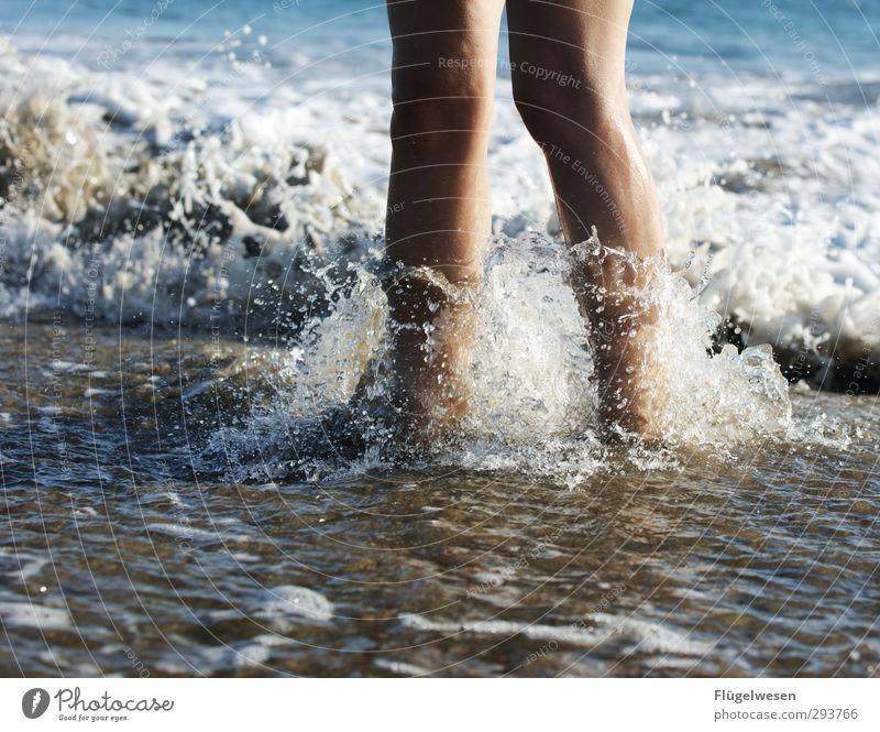 Human being Water Summer Sun Ocean Beach Coast Swimming & Bathing Feet Waves Island Wet Drops of water Lakeside Swimming pool Sunbathing