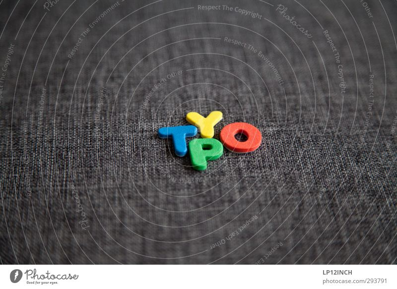 TYpO. SECOND Leisure and hobbies Playing Characters Digits and numbers Multicoloured Design Creativity Typography Cloth Word Colour photo Interior shot Deserted
