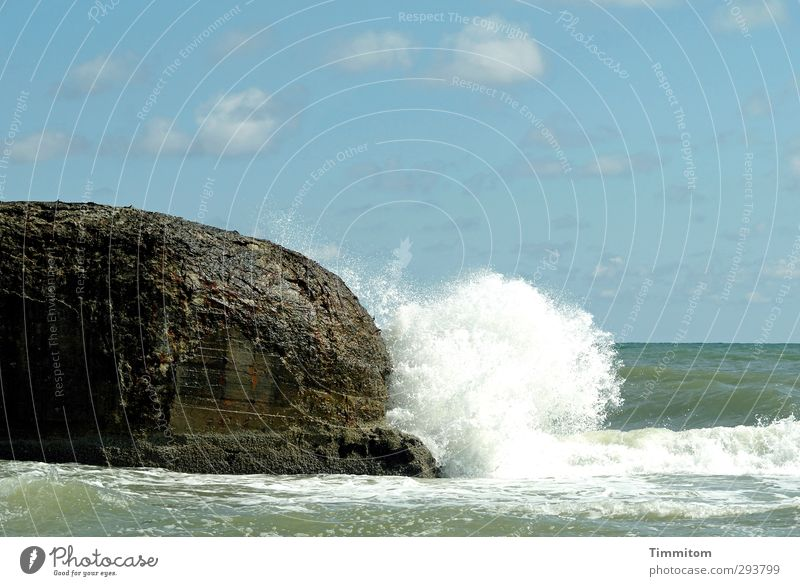 Header! Vacation & Travel Summer Beach Environment Nature Elements Air Water Sky Clouds Waves Coast North Sea Denmark Concrete Simple Fresh Blue White Life Surf