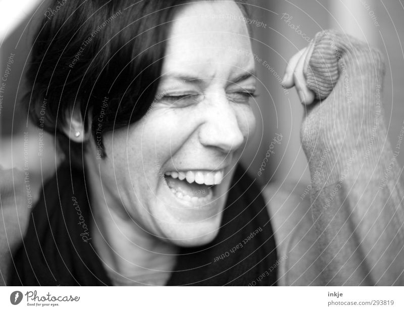 Human being Woman Joy Face Adults Life Laughter Emotions Funny Moody Happiness Joie de vivre (Vitality) Facial expression Enthusiasm Joke 30 - 45 years