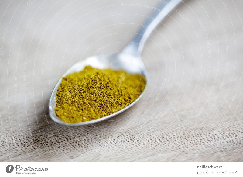 curry Food Herbs and spices Curry powder Nutrition Organic produce Vegetarian diet Asian Food Cutlery Spoon Wooden spoon Metal Fragrance Delicious Natural
