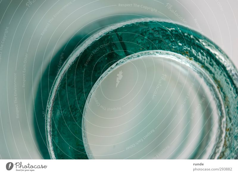 Blue Green Cold Contentment Elegant Power Glass Authentic Success Esthetic Round Infinity To hold on Turquoise Bottle Smart