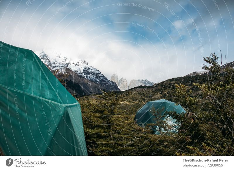 Camping - Torres del Paine National Park - Eco-Camp Environment Nature Landscape Gray Green Turquoise Tent Torrs del Paine Mountain eco-camp Sleep Accommodation