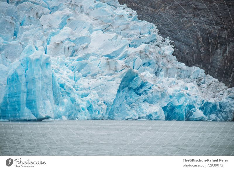 glaciers Environment Nature Blue White Glacier Perito Moreno Glacier Iceberg Structures and shapes lake grey Chile Melt Water Snow Patagonia Colour photo