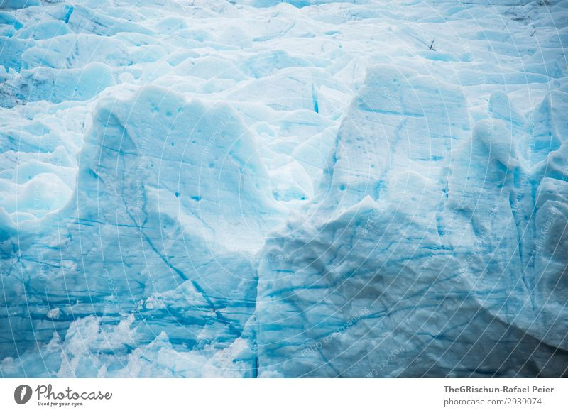 glaciers Nature Threat Blue Turquoise White Glacier Ice floe Cold Snow Water Crack & Rip & Tear Structures and shapes Colour photo Exterior shot Deserted