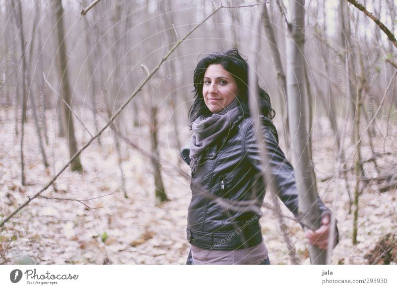 c. Human being Feminine Woman Adults 1 30 - 45 years Environment Nature Landscape Autumn Forest Beautiful Natural Colour photo Exterior shot Day
