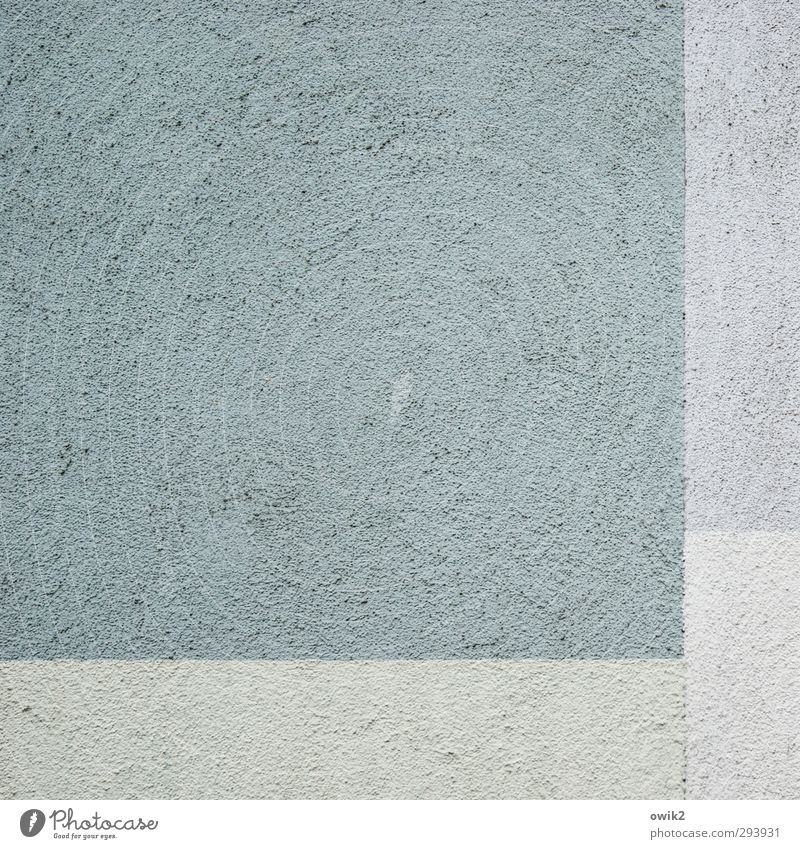 equilibrium Wall (barrier) Wall (building) Facade Sharp-edged Simple Blue Gray Turquoise Pale blue Rough Gritty Thermal insulation Simplistic Square Rectangle