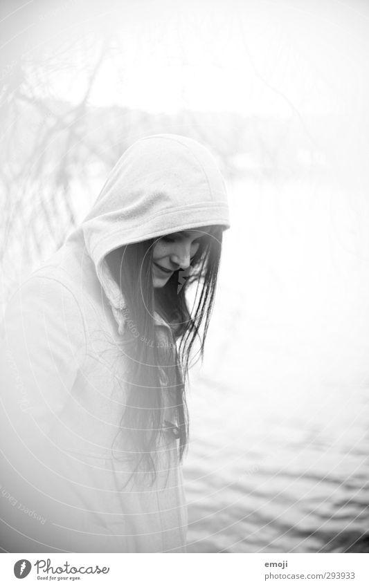 Human being Youth (Young adults) White Young woman Adults Feminine 18 - 30 years Bright Uniqueness Analog Long-haired Hooded (clothing)