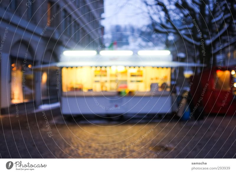 City Dark Cold Lighting Eating Food Illuminate Beverage Nutrition Shopping Gastronomy Dusk Downtown Marketplace Stalls and stands