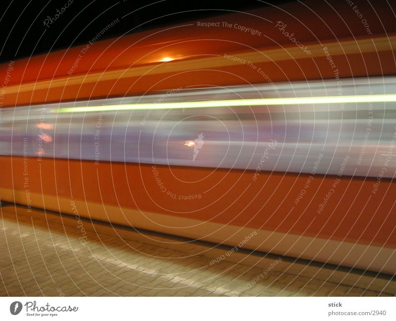 S-Bahn Commuter trains Railroad Speed Long exposure Transport Train station Blur