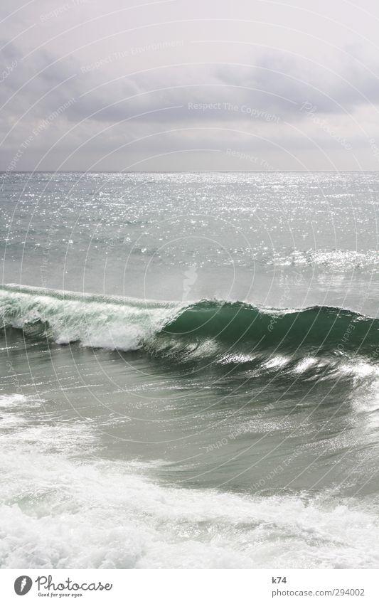 Sky Water Ocean Clouds Landscape Far-off places Coast Horizon Waves Illuminate