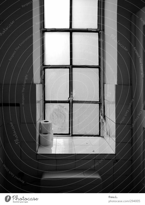 romantic place Culture Toilet paper Old Dark Cleanliness Far-off places Window Calm Black & white photo Interior shot Back-light