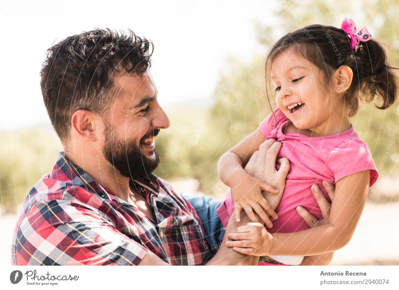 Father lifting daughter Child Human being Man Joy Adults Love Family & Relations Happy Playing Park Toddler Arabia Lift Daughter 30 - 45 years