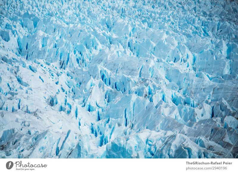 Perito Moreno Glacier Environment Nature Landscape Blue Turquoise White Ice Snow Argentina Patagonia Crack & Rip & Tear Structures and shapes ice mass Pattern
