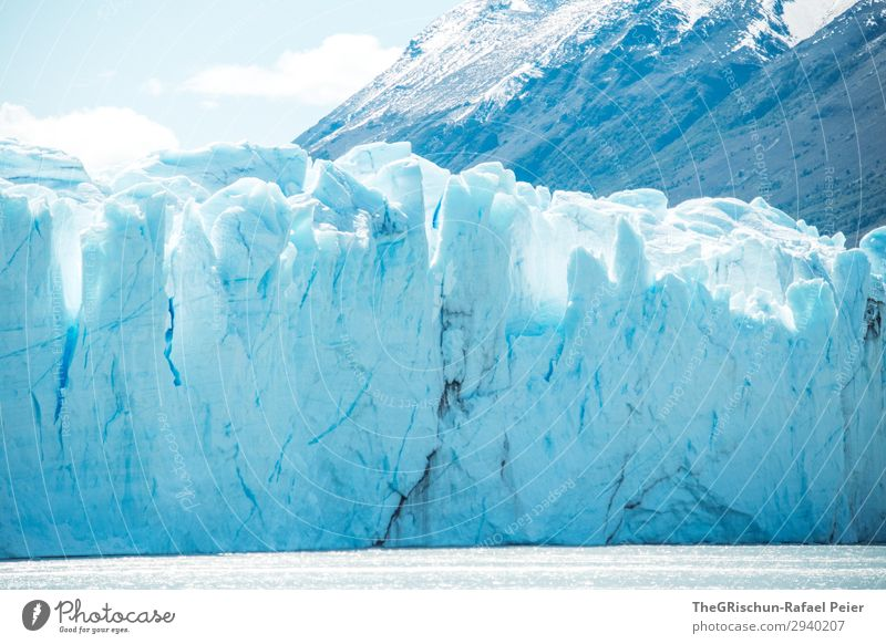 Perito Moreno Glacier Environment Nature Landscape Blue White Argentina South America Patagonia Ice Snow Mountain To break (something) Crack & Rip & Tear
