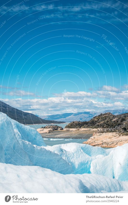 Perito Moreno - Glacier hike Environment Nature Landscape Blue White Glacial migration Coast Lake Perito Moreno Glacier Snow Ice Clouds Contrast Shadow Light