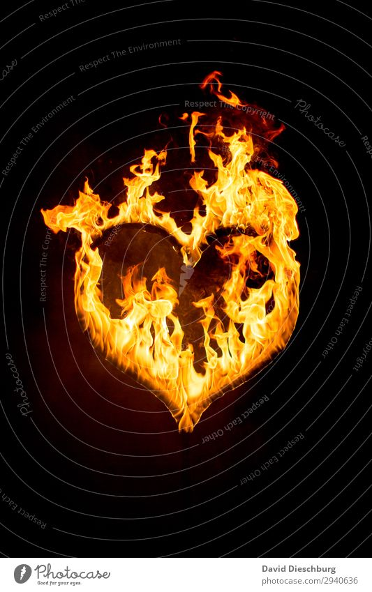 heart in flames Sign Heart Yellow Orange Black Together Love Infatuation Loyalty Romance Hope Belief Jealousy Loneliness Love affair Lose Attachment